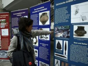 """Ausstellungstafeln bei """"Hamburg von unten"""""""