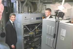 Dr. Thomas Krebs, Vorstand SAGA GWG und Dr. Christian Friege, Vorstandsvorsitzender LichtBlick AG