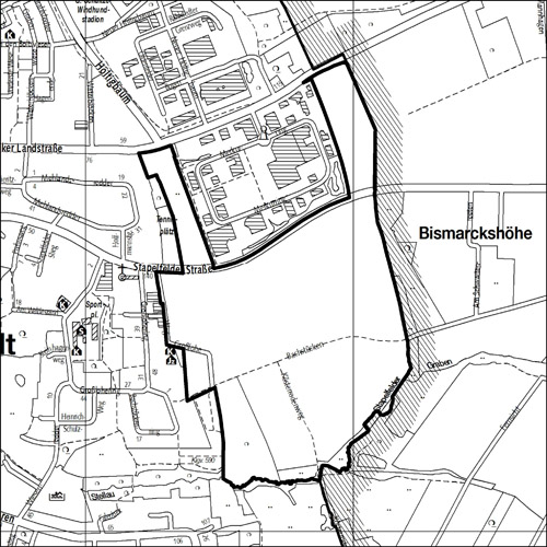 Öffentliche Auslegung des Bebauungsplans Rahlstedt 131 (Stapelfelder Straße)