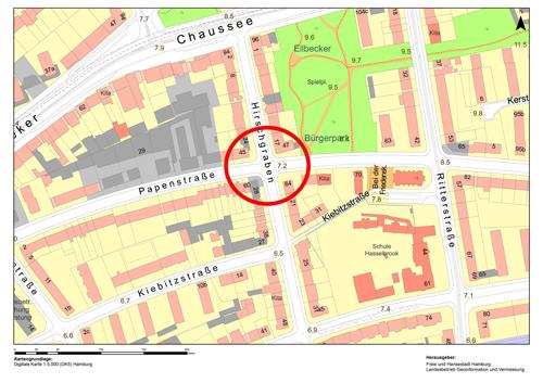 Neu- und Umbau der Kreuzung Hirschgraben/Papenstraße für bessere Verkehrssicherheit